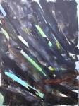 Sillons 2018 technique mixte sur toile 92x73 cm